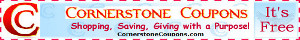 Cornerstone Coupons -- Shopping, Saving, Giving with a Purpose!